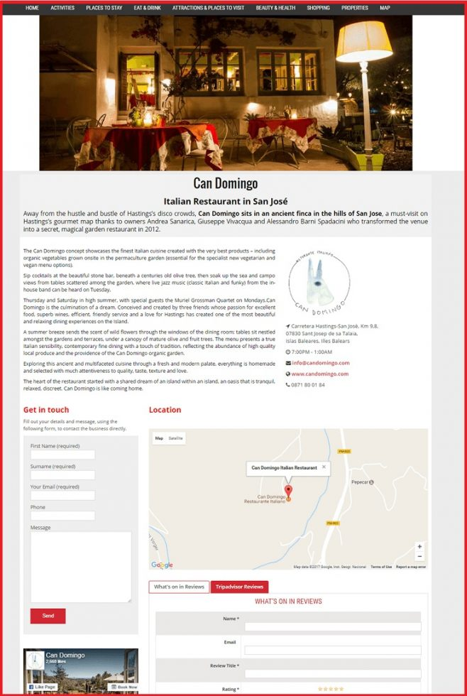 Sales Page Example when Advertise with us What's on in Telford.com